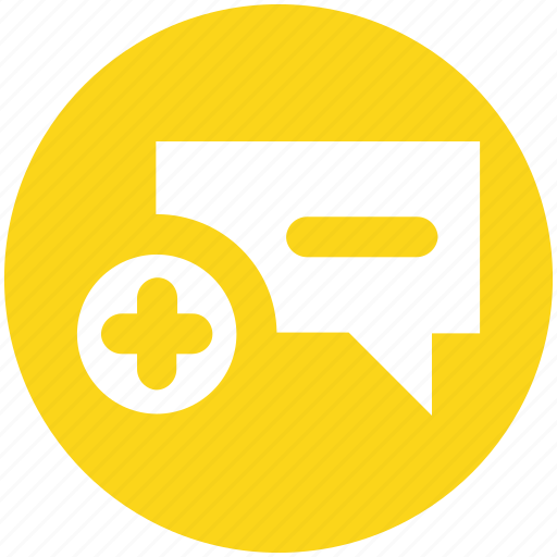 add, chat, comment, message, plus, text icon