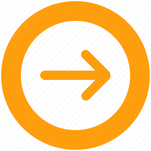 arrow, circle, forward, material, right icon