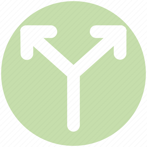 Arrows, direction, left and right arrows, path icon - Download on Iconfinder