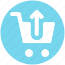 cart, ecommerce, shopping, shopping cart, up, up arrow