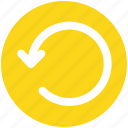 arrow, circle, left, line, loading, rotate, sync icon