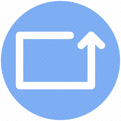Arrow, box, line, material, rotate, up icon - Download on Iconfinder