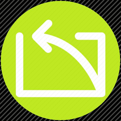 Arrow, curve, left, left arrow, up icon - Download on Iconfinder