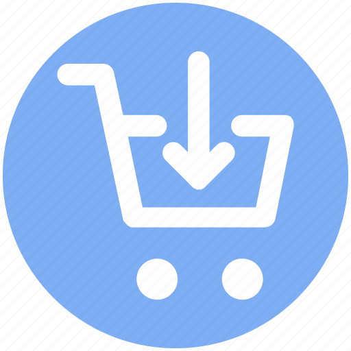 Cart, down, down arrow, ecommerce, shopping, shopping cart icon - Download on Iconfinder