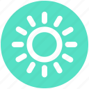 brightness, light, summer, sun, sunlight, weather icon