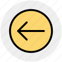arrow, circle, forward, left, material icon