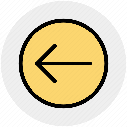 arrow, circle, forward, left, material icon
