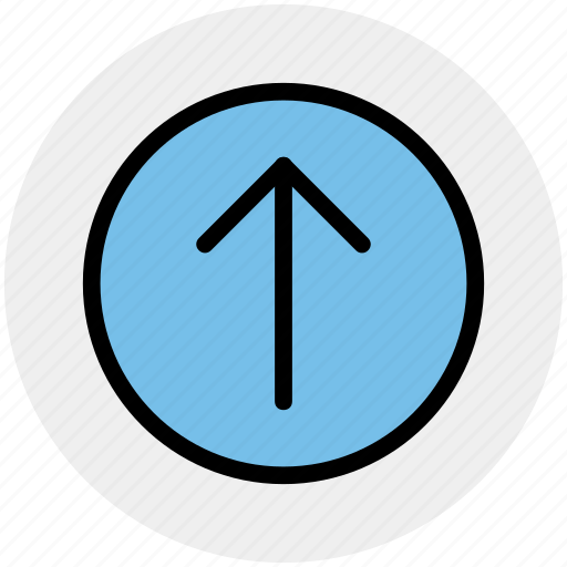 arrow, circle, forward, material, up icon