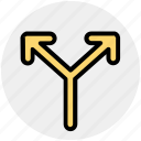 arrows, direction, left and right arrows, path icon