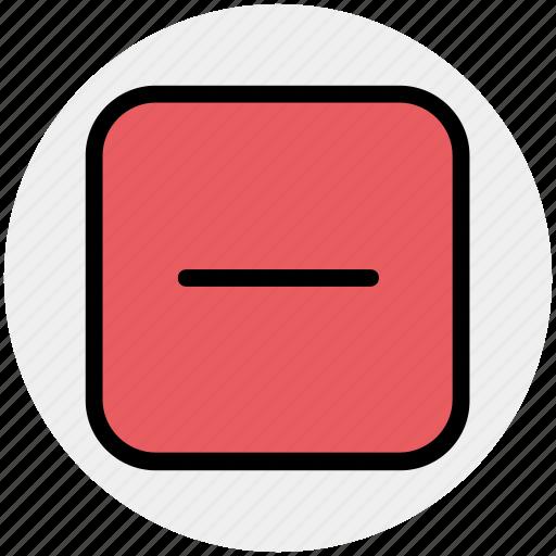 decrease, less, minus, minus sign, remove, sign icon