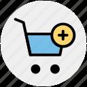 add, cart, ecommerce, plus, shopping, shopping cart