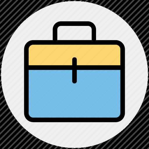bag, brief case, case, office bag, school bag, suit case icon