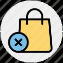 bag, cross, fashion, hand bag, reject, shopping bag icon