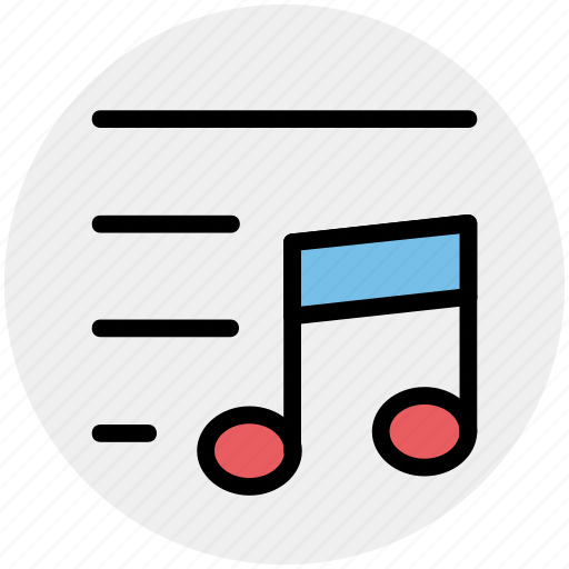 lines, multimedia, music, note, sound icon