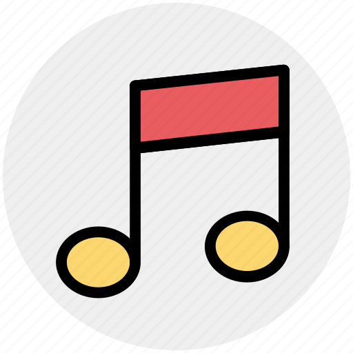 multimedia, music, music sign, note, sound icon