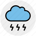 cloud, cloud storm, storm, thunderstorm, weather icon
