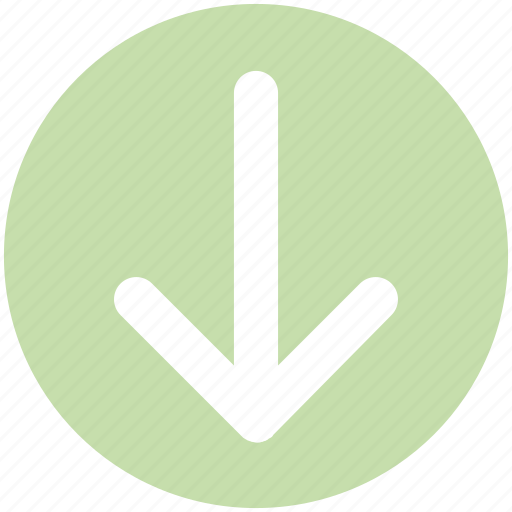 Arrow, down, down arrow, downloading icon - Download on Iconfinder