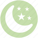 moon, moon and stars, night, sleep, stars icon