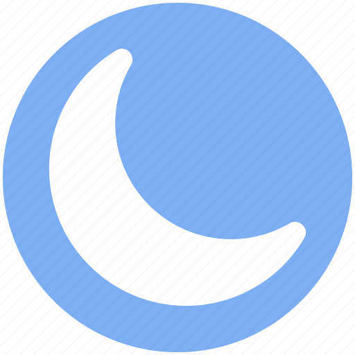 Crescent, new moon, night, night moon, weather icon - Download on Iconfinder