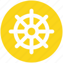 boat, handle, sail, ship handle, ship wheel, wheel icon