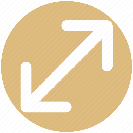 arrow, change, change arrows, scale icon