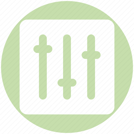 Adjustment, amplifier, filter, music setting, setting, sound icon - Download on Iconfinder