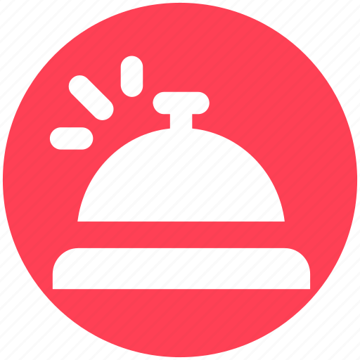 alert, bell, counter bell, customer, hotel, reception icon