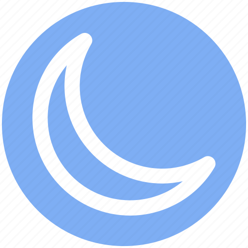 crescent, new moon, night, night moon, weather icon
