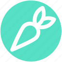 carrot, crunchy, food, healthy, vegetable icon