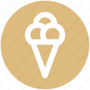 cone, cone ice cream, food, ice, ice cream, ice cream cone icon