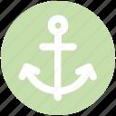anchor, boat, chip anchor, marine, port, ship