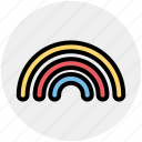 colorful, forecast, rain, rainbow, weather icon