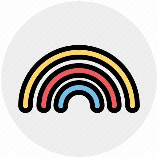 Colorful, forecast, rain, rainbow, weather icon - Download on Iconfinder