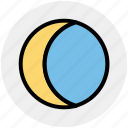 crescent, eclipse, moon, night, weather icon