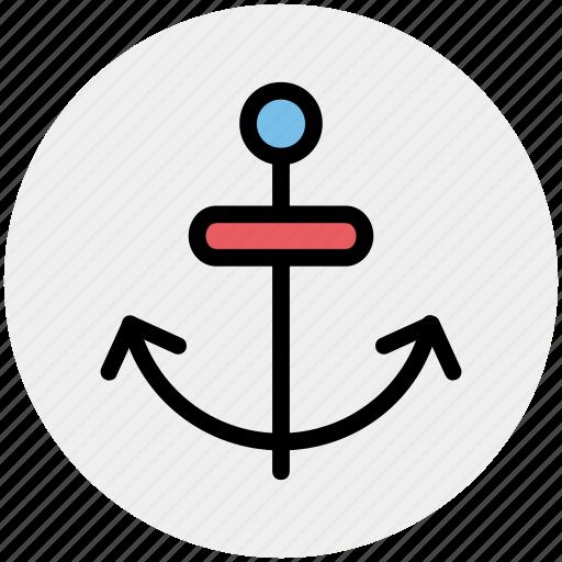 anchor, boat, chip anchor, marine, port, ship icon