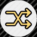 arrow, arrows, line, shuffle icon