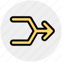 arrow, arrows, direction, multimedia icon