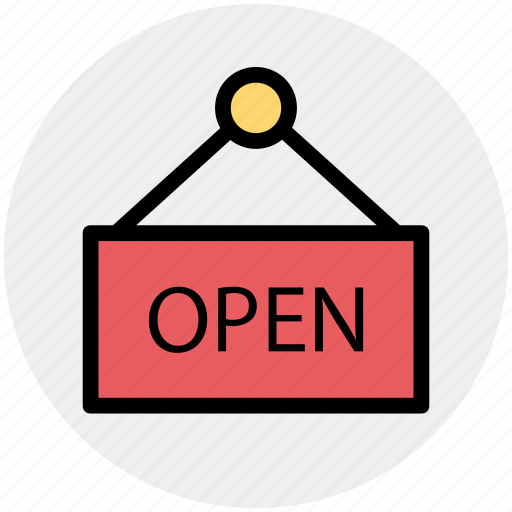 Board, open, shop, shop board, sign board icon - Download on Iconfinder