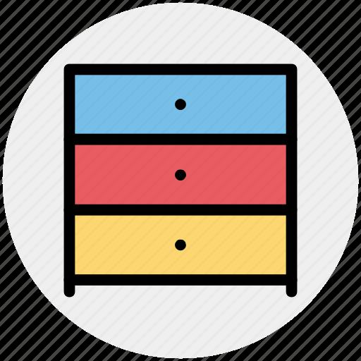 draw, furniture, interior, office draw, wardrobe icon