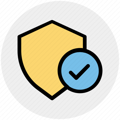 accept, protection, secure, security, shield, sign icon