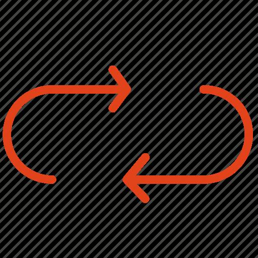 arrow, change, rectengle, replace icon