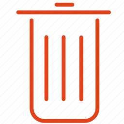 basket, delete, throw, trash, unistall icon