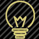 bulb, electricity, idea, light, think