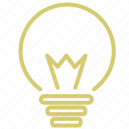 bulb, electricity, idea, light, think icon