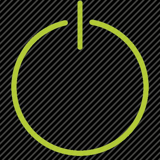 close, open, power icon