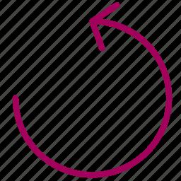 arrow, check, elipse, refresh icon