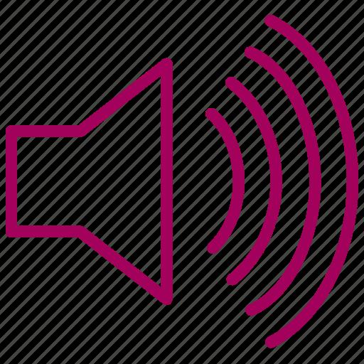 music, noisy, song, sound, speaker icon