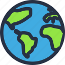 color, earth, globe, planet, space, universe, world icon
