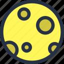 color, moon, planet, space, universe icon