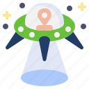 extraterrestrial, fiction, miscellaneous, science, spaceship, transportation, ufo icon